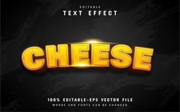 Текстовый эффект сыра