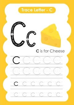 아이들을 위한 치즈 트레이스 라인 쓰기 및 그리기 연습 워크시트