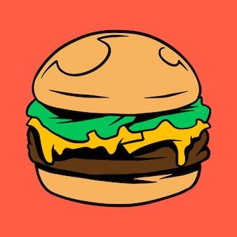 チーズバーガーのクリップアート