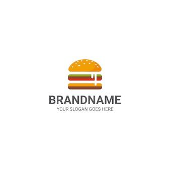 Cheeseburger logo template
