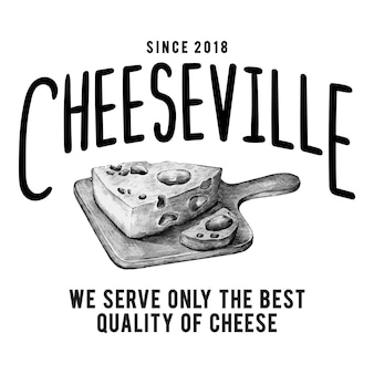 Cheeseville shop logo design vector