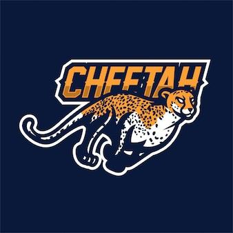Cheetah esport gaming mascot logo template