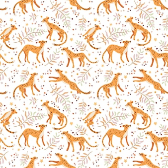 Cheetah and leopards pattern