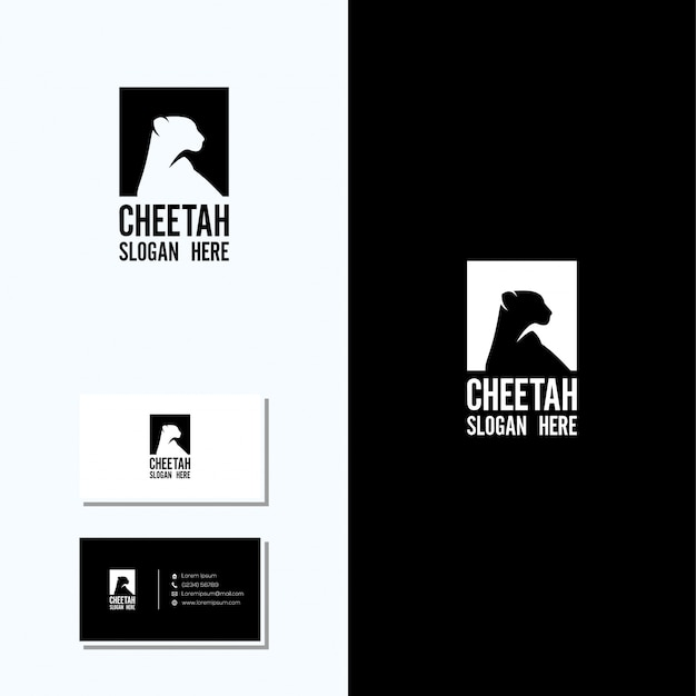 premium vector cheetah logo and business card freepik