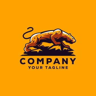 Cheetah logo design vector