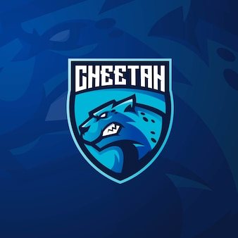 Cheetah mascot logo design with modern illustration concept style for badge, emblem and t shirt printing