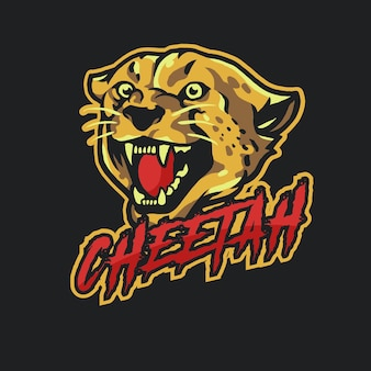 Cheetah Mascot logo Esport