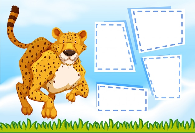 Гепард на шаблоне заметки