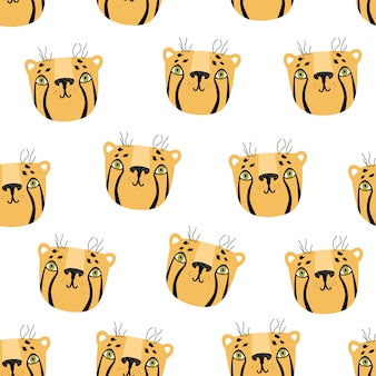 Cheetah seamless pattern scandinavian style