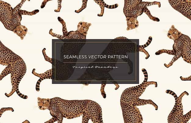 Cheetah seamless pattern.