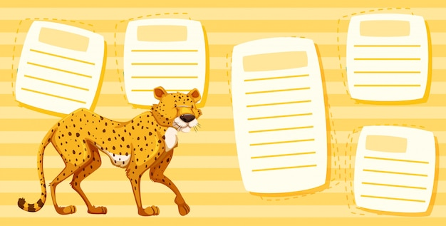 Cheetah on text note template
