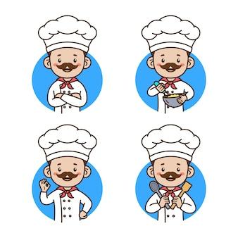 Шеф-повар аватар портрет изолированные