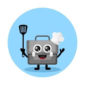 요리사 가방 귀여운 캐릭터 로고