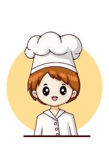 노동절 디자인 캐릭터 만화 일러스트 레이 션에 대 한 요리사 소년