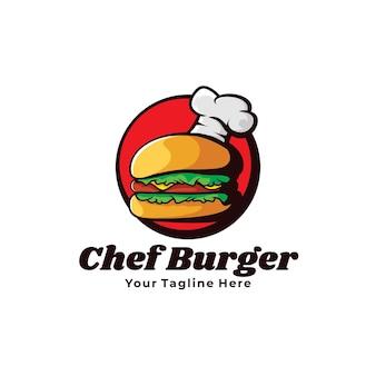 요리사 햄버거 로고 그림