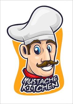 Chef cartoon logo vector illustration