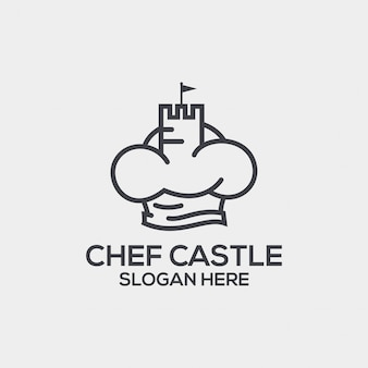Chef castle dual meaning logo