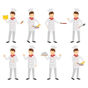 Chef character design vector