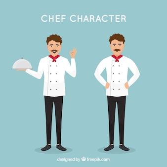 평면 디자인의 요리사 캐릭터