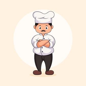 요리사 캐릭터 로고 디자인 서식 파일