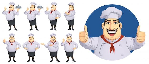 요리사 캐릭터 세트