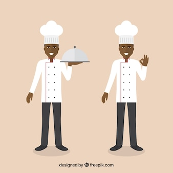 Chef character in two postures