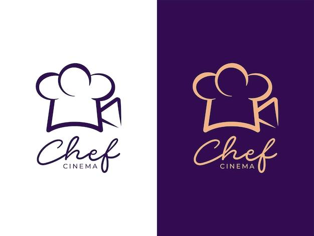 Chef cinema logo design concept