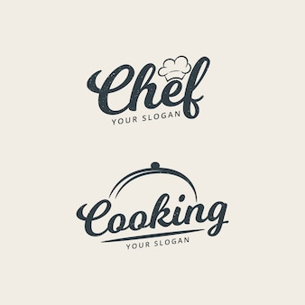 Chef and cooking logo template