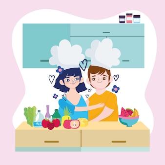 요리사 커플 만화