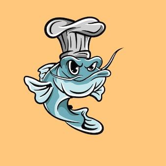 シェフの魚のロゴ