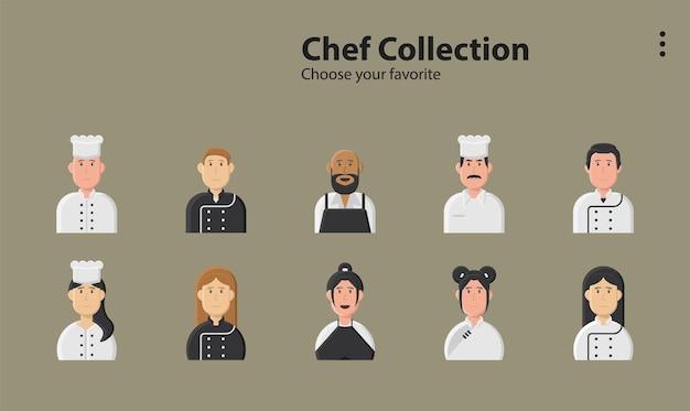 Шеф-повар еда работа повар обслуживание ужин кухня обед ресторан пекарь иллюстрация фон персонаж