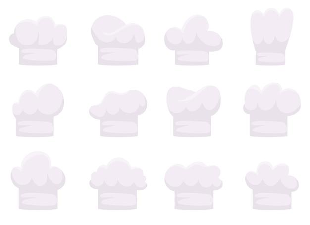 Иллюстрация дизайна шляпы шеф-повара, изолированные на белом фоне