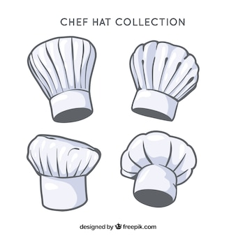 Chef hats with different kind of designs