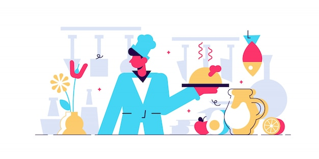 Иллюстрация шеф-повара.