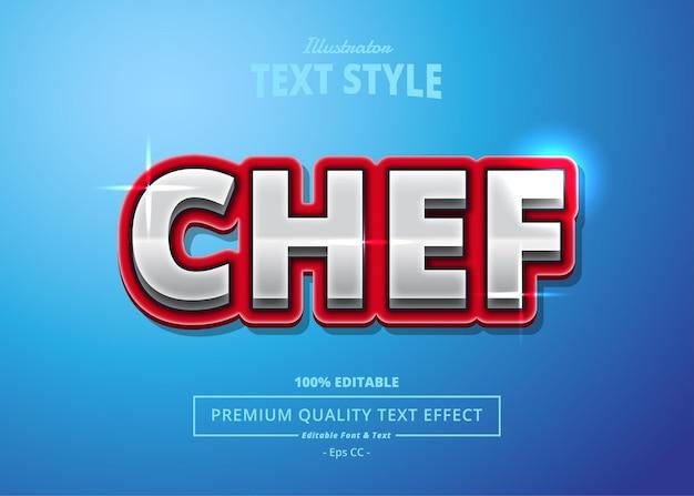 Chef illustrator text effect