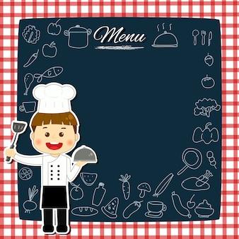 Chef kid cute frame