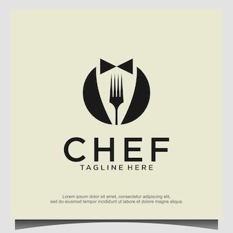 Chef logo design vector template