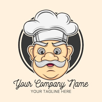 Chef logo template design