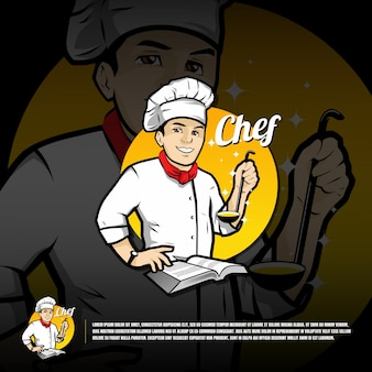 Chef logo template
