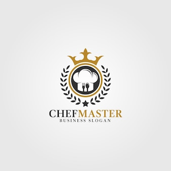 Chef master logo template