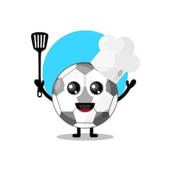 シェフのサッカーかわいいキャラクターマスコット