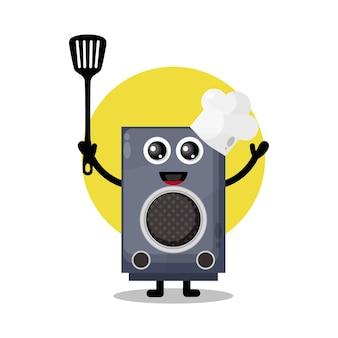 Chef speaker cute character mascot