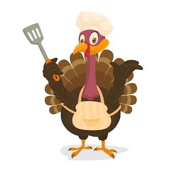 Chef turkey, thanksgiving