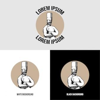 Шеф винтаж логотип редакционный шаблон пищевой бренд