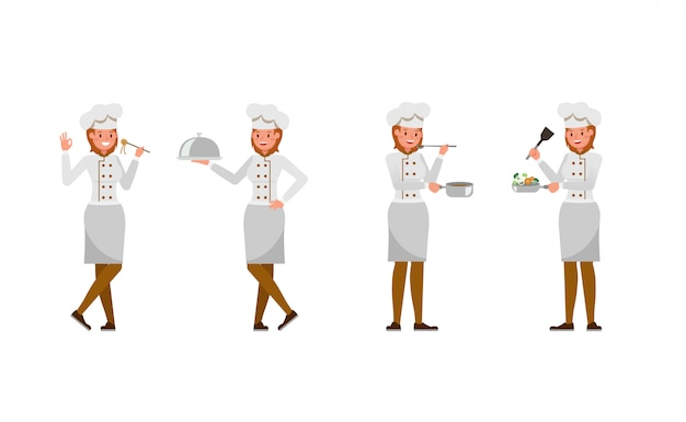 Chef woman character