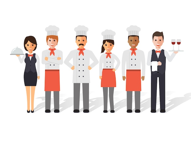 Chefs and restaurant team.