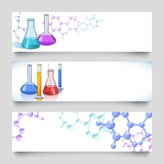 Chemical laboratory banners backgrounds