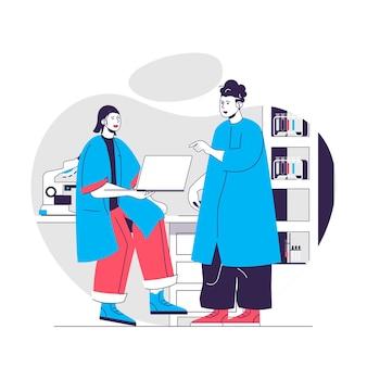 Chemical laboratory concept illustration