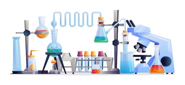 화학 실험실 실험 장비 테스트 튜브 및 플라스크 비커 및 의료의 격리 세트