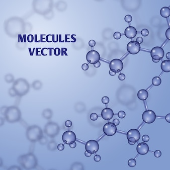 Chemical nanotechnology background with 3d macro molecules. molecular structure substance